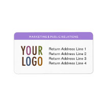 Large Return Address Labels with Company Logo