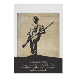 Large Revolutionary Minuteman Poster