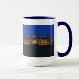 Large Ringer cup blue Berlin Reichstag in the