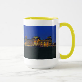 Large Ringer cup yellow Berlin Reichstag evening