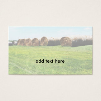 large rolled hay bales business card