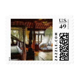 Large room in a resort postage stamp