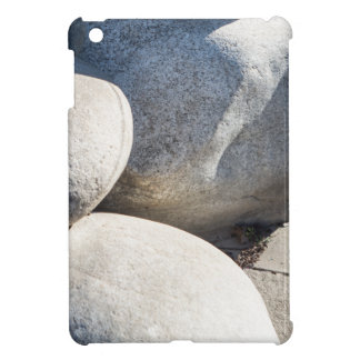 Large round boulders close-up case for the iPad mini