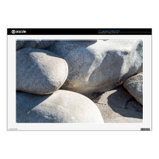 Large round boulders close-up decals for laptops