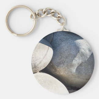Large round boulders close-up keychain