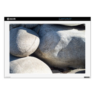 Large round boulders close-up skins for laptops