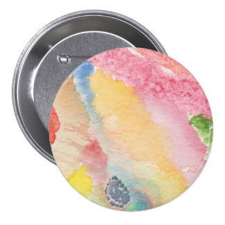 Large Round Button three inches w/abstract design