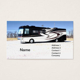 large RV or recreational vehicle Business Card