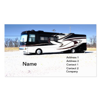 large RV or recreational vehicle Business Cards