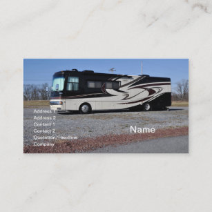 Rv business cards zazzle large rv or recreational vehicle business card colourmoves