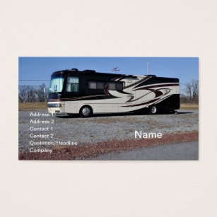 Rv business cards templates zazzle large rv or recreational vehicle business card colourmoves