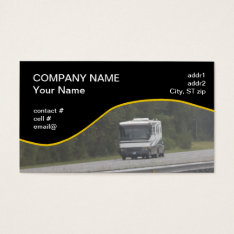 Large Rv Traveling On Interstate Business Card at Zazzle