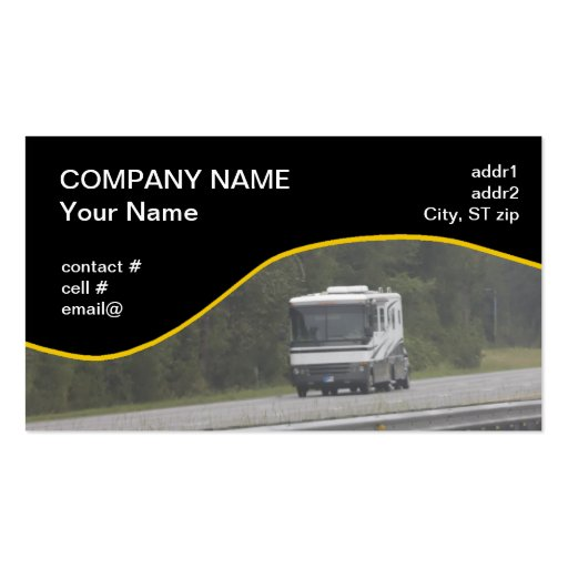 Camper business card templates bizcardstudio large rv traveling on interstate business card colourmoves