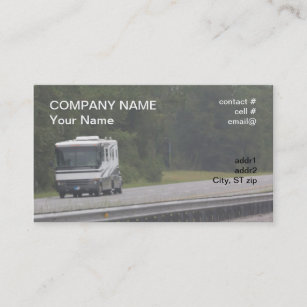 Rv business cards zazzle large rv traveling on interstate business card colourmoves
