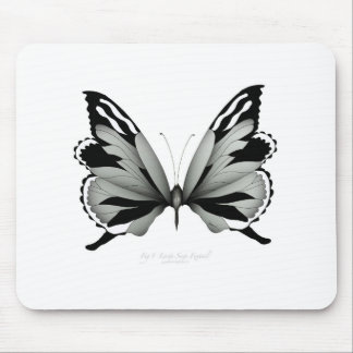 Large Sage Foxtail Butterfly Mouse Pad