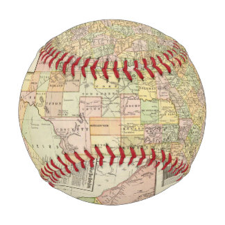 Large Scale County and Railroad Map Of Texas Baseball