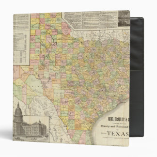 Large Scale County and Railroad Map Of Texas Binders