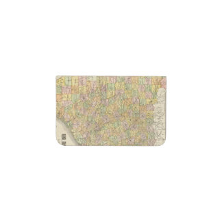 Large Scale County and Railroad Map Of Texas Business Card Holder