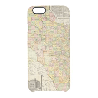 Large Scale County and Railroad Map Of Texas Clear iPhone 6/6S Case