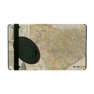 Large Scale County and Railroad Map Of Texas iPad Folio Case