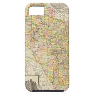 Large Scale County and Railroad Map Of Texas iPhone SE/5/5s Case