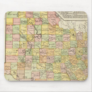 Large Scale County and Railroad Map Of Texas Mouse Pad