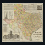 """Large Scale County and Railroad Map Of Texas Poster<br><div class=""""desc"""">Large Scale County and Railroad Map Of Texas. By Rand McNally and Company (189). Published by &#39;&#39;Chicago: Rand McNally&#39;&#39;.</div>"""