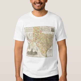 Large Scale County and Railroad Map Of Texas T Shirt