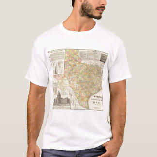 Large Scale County and Railroad Map Of Texas T-Shirt