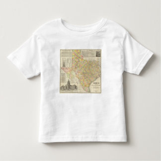 Large Scale County and Railroad Map Of Texas Shirts