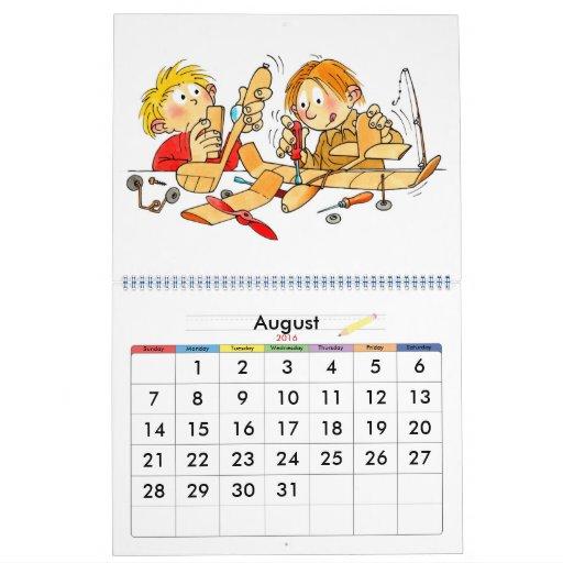 Year Calendar For Kids : Large school year calendar for kids zazzle