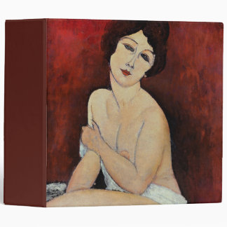 Large Seated Nude (oil on canvas) 3 Ring Binder