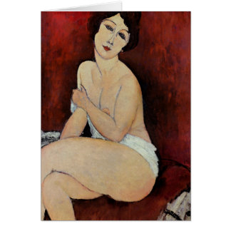 Large Seated Nude (oil on canvas) Card