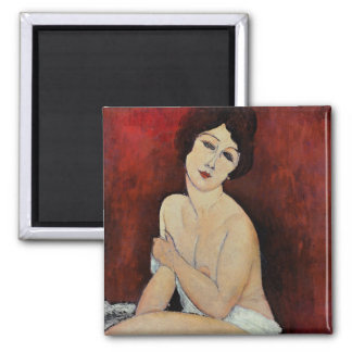 Large Seated Nude (oil on canvas) Magnet