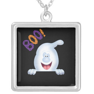 Large Silver Plated Halloween Necklace