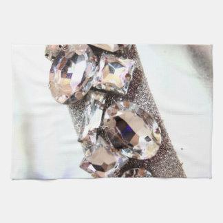 Large Silver Rhinestones Towel
