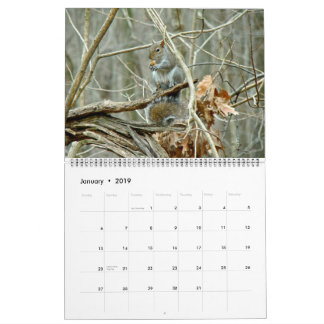 Large Size Calendar - Where The Wild Things Live