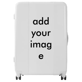 Large Size Custom Image Luggage Suitcase Rolling by creativeconceptss at Zazzle