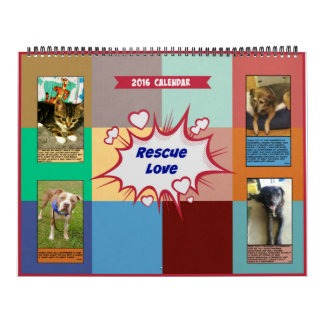 Large size Rescue Love 2016 Calendar