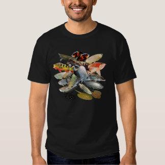 Large-sized fresh water characteristic tropical fi t shirt