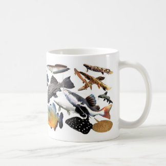 Large-sized tropical fish coffee mug