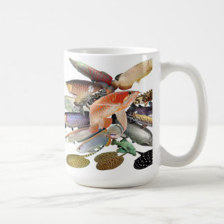 Large-sized tropical fish coffee mug