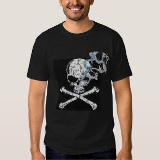 Large Skull with blue smoke T-Shirt