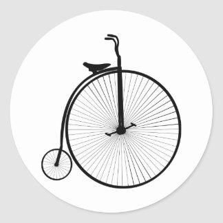Large Small Wheels Bicycle Classic Round Sticker