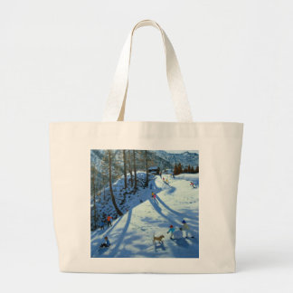 Large Snowball Zermatt Large Tote Bag