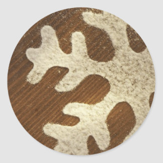 Large Snowflake Christmas Design Envelope Seals Classic Round Sticker