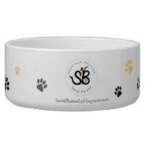 Large Social Animal Ceramic Bowl