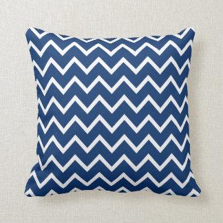 Large Sodalite Blue Chevron Pillow