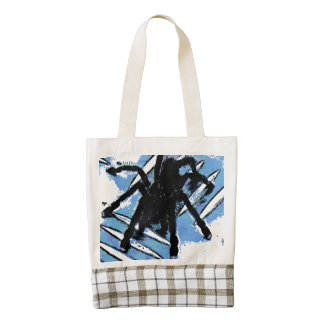 Large spider on metal surface zazzle HEART tote bag