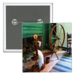 Large Spinning Wheel 2 Inch Square Button